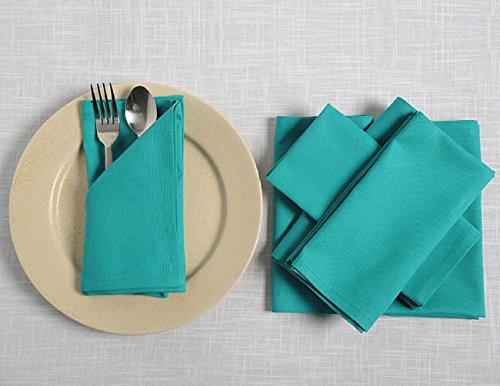 Shalinindia Reinigungstuch Cocktail Servietten Set–15,2x 15,2cm–Baumwolle–Aqua –-Perfekt für Hochzeiten und Partys, baumwolle, multi, Set of 24
