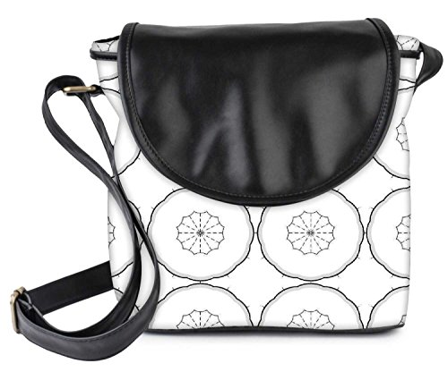 Snoogg Grey Color White Pattern Womens Sling Bag Small Size Tote Bag