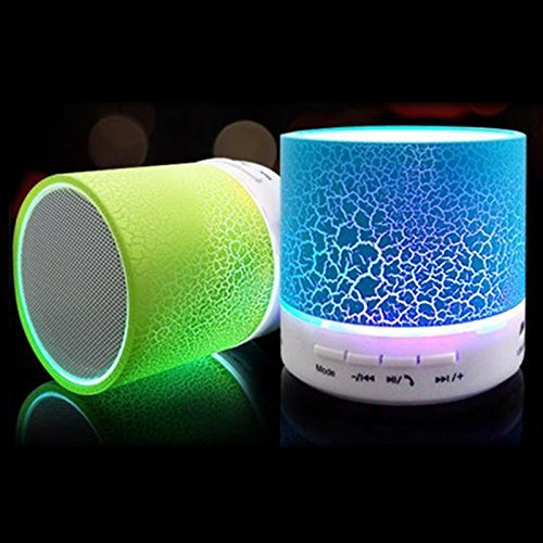 Rechargeable Bluetooth Speaker WITH LED Wireless Audio Receiver Outdoor, Home Theatre Portable USB MP3 Player Stereo Surround Loud Mini Radio Bluetooth Speaker Speakers with Light Support TF Card and Aux with MIC and Phone Call Receiving Feature (Assorted color)  available at amazon for Rs.299