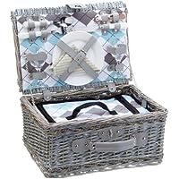 Cilio 155716 - Cesta de picnic con cubiertos, platos y otros accesorios para dos personas