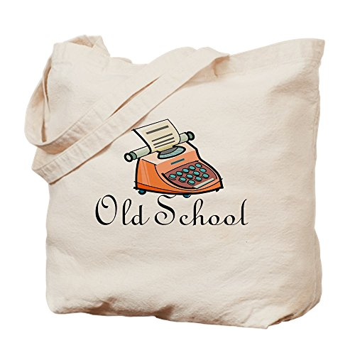 CafePress Old School Tragetasche, canvas, khaki, S