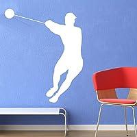 Lancio del Martello Atletica Adesivo Art Stickers Wall Decals disponibile in 5 dimensioni e 25 colori Medio Blu Reale