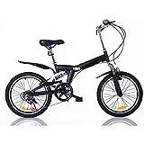 ZIXINGCHE Bike Foldaway Pieghevole Bicicletta ad Alto Contenuto di Carbonio Telaio in Acciaio Assorbimento degli Urti Ultra Leggero Portatile Gioventù Adulto 20 Pollici