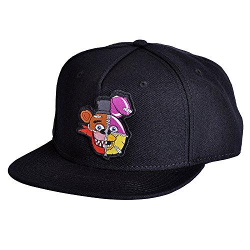 Five Nights at Freddys Snapback Cap Fazbear Bonnie Chica Foxy Baseball Cap Black