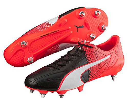 Puma Evospeed Sl Ii L Tricks Mix, Chaussures de Football Compétition Homme black-white-red blast