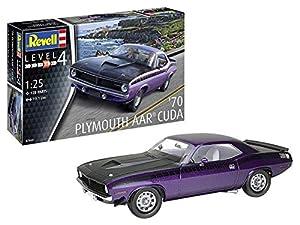 Revell-1970 Plymouth AAR Cuda, Escala 1:25 Kit de Modelos de plástico, Multicolor, 1/25 (Revell 07664 7664)