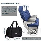 Schwarz Transporttasche Für Hunde & Katzen Komfort Airline Genehmigte ReiseTote Weich-seitig Tasche Mit Matte - 2