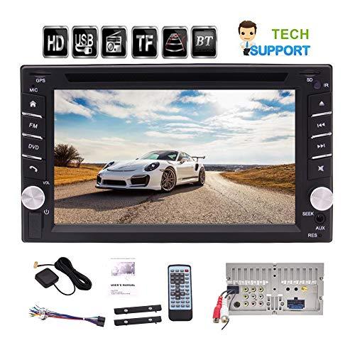 EINCAR 6,2-Zoll-Double 2 Lärm-Auto-CD DVD-Player Bluetooth GPS-Navigation Auto Stereo-Unterstützungs-USB/TF Multi Sprachen AM FM Radio mit kostenloser Fernbedienung und 8GB GPS Map-Karte (Multi-cd-player-stereo-system)