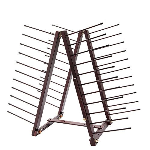 Trocknen Rack-einheit (Creative Mark Rue Art Trocknen Rack, perfekt für Künstler Leinwand, Panels, Papier, Drucke Leiter Stil Aufbewahrung rack- Mahagoni-Finish)