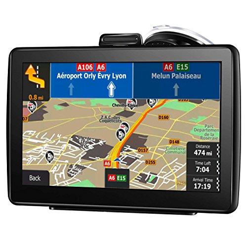 AONEREX-Navigationssystem, 17,8 cm (7 Zoll), HD-Touchscreen, Sprach-Navigationssystem, integriertes 8 GB und 256 MB, UK- und EU-Karten, lebenslange kostenlose Updates