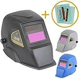 Linxor France ® Masque de soudure automatique 9 à 13 DIN + 2 Verres de protection - Trois coloris - Normes EN379 et EN175