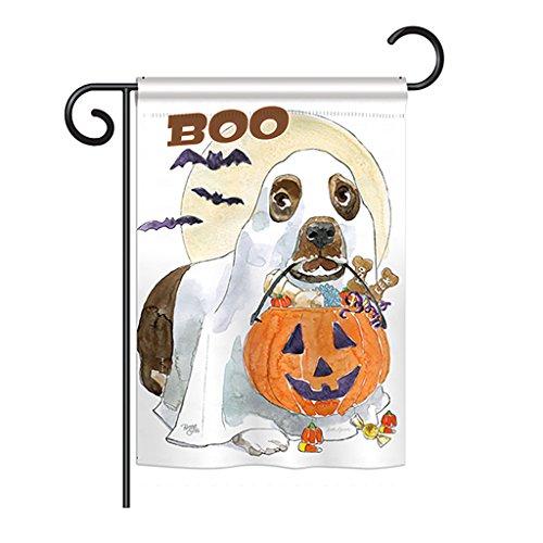 (Breeze Decor g162086Halloween Boo Hund Fall Halloween Impressions Dekorative Vertical Garden Flagge 33x 47cm in Den USA Gedruckt Mehrfarbig)