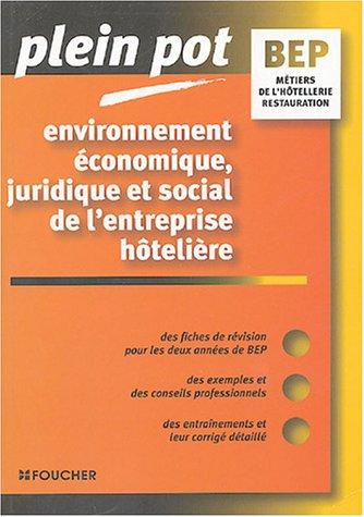 Environnement économique, juridique et social de l'entreprise hôtelière