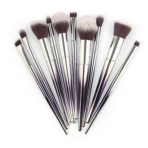 10 Stück Make-Up Pinsel Kosmetik Blush Lidschatten Pinsel Augenbraue Pinsel Lippenpinsel Gesichtspinsel Pinselset