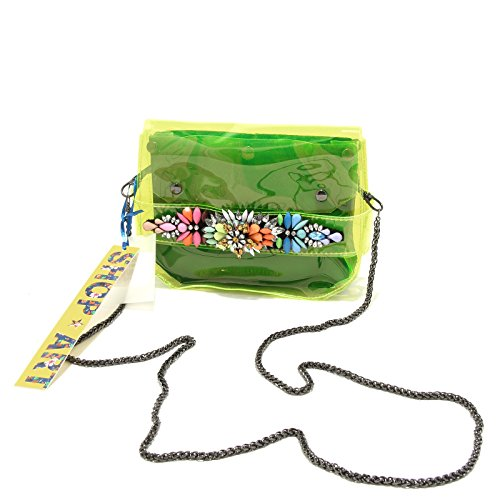 8445G pochette donna gialla SHOP ART borsa borsetta tracolla accessori bag women Giallo