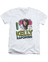 2Bhip Saved by The Bell NBC TV Series I Love Kelly Adult V-Neck T-Shirt Tee