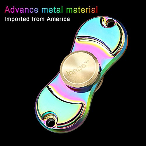 Innoo Tech Fidget Spinner Two Sided Hand Spinner Rainbow | Spin 3-5 Minutes Stainless Steel Bearing | Suitable for Stress Relief, Killing Time, Relaxation | Relief toys