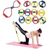 Qewmsg Banda de Resistencia Yoga Pilates ABS Ejercicio Stretch Fitness Tube Workout Bandas