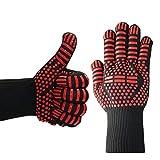 LOUZHENI Hot VVLZNQ Grilling Cooking Gloves Guanti di Saldatura per Forno Estremamente Resistenti al Calore