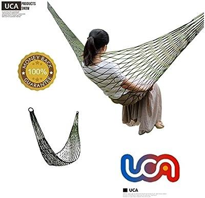 UCA Hamaca PT03 - Hamacas Tela de nylon cama colgante para Casa, Jardín, Cámping, Al aire libre y De viaje