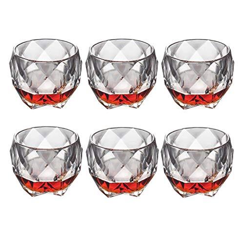 6 bâtonnets de style italien verre whisky tasse