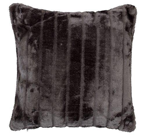 Brandsseller Exklusive Fellkissen mit Füllung - Nerz Look Kuschel Kissen - Größe: 45 x 45 cm - In den Farben: Schwarz, Taupe,Sand und Braun (45 x 45 cm, Anthrazit)