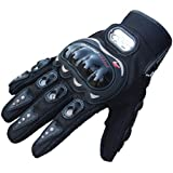 Motorbike Summer Gloves, Yistu Rock Black Short Sports Leather Motorcycle Gloves