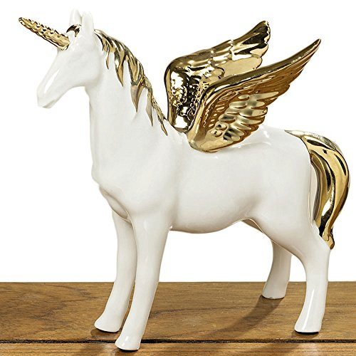 Porzellanfigur Magic Einhorn 19 cm