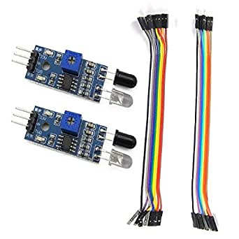 Auslese™ 2 Pcs of IR Proximity Sensor with (6 Pcs Male to Male) and (6 Pcs Male to Female) Connector Wire