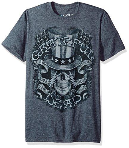 Liquid Blue Grateful Dead Memorial Ball Room Short Sleeve T-Shirt