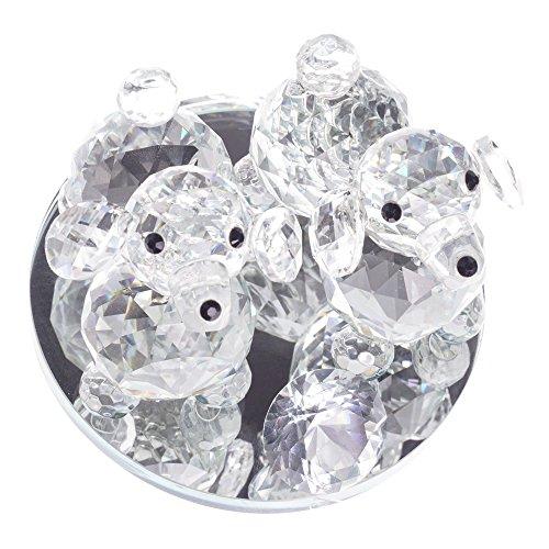 Prsent decorativa cagnolino di cristallo, in confezione regalo, cristallo, cristallo, 7509 double