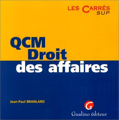 QCM, droit des affaires