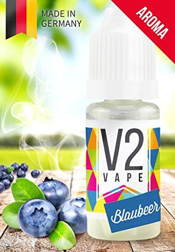 V2 Vape Blaubeere Konzentrat hochdosiertes Premium Lebensmittel-Aroma zum selber mischen von E-Liquid / Liquid-Base für E-Zigarette und E-Shisha 10ml 0mg nikotinfrei