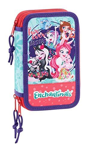 Enchantimals Oficial Estuche Escolar Incluye 36 Útiles, 125x55x195mm