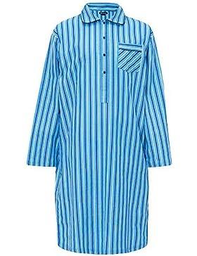 CABALLEROS Camisa de dormir Vestido Rayas Cuadros 100% Algodón Cepillado abrigo invierno
