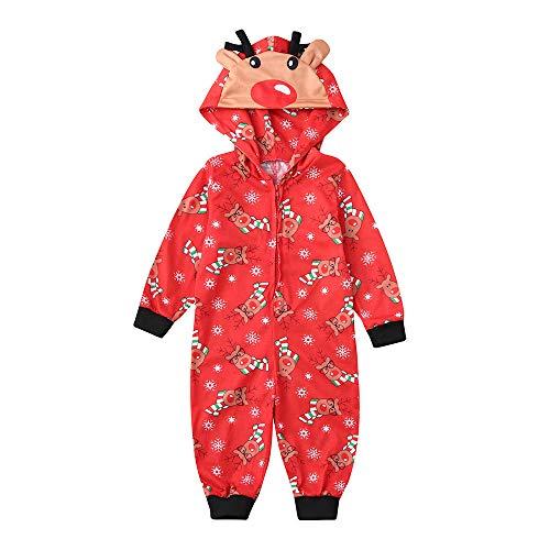TianWlio Baby Weihnachten Pyjamas Baby Weihnachten Outfit Baby Mädchen Mama und Papa Mama Baby Jungen Mädchen Mit Kapuze Spielanzug Jumpsuit Familie Pyjamas Nachtwäsche Weihnachts Outfit