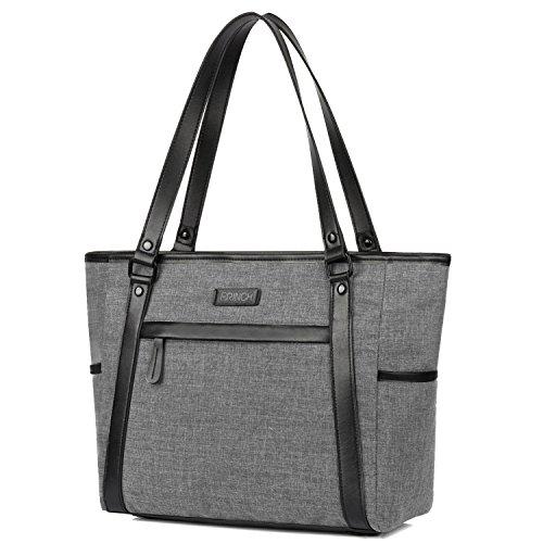 Amzbag Handtasche für Damen 15,6 Zoll Frauen Laptop Einkaufstasche Schultertasche Leicht Schlankes Nylon Reise Business Tasche Lässig Einkaufen Aktentasche für Notebook Ultrabook Tablette - Handtaschen Vuitton