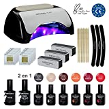 Lampara Led Secador de Uñas UV Kit Gel de Uñas Set Manicura Uñas de Porcelana Kit Decoración...