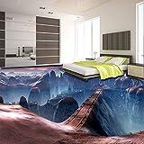 Wmbz Benutzerdefinierte Selbstklebende Boden Wandbild Tapete Moderne Kreative Spiel Szenen Brücke 3D Bodenfliesen Wand Papiere Aufkleber-140X75Cm