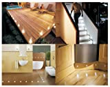 SET OF 10 WATERPROOF LED WHITE DECK LIGHTS / DECKING / PLINTH / KITCHEN LIGHTING SET
