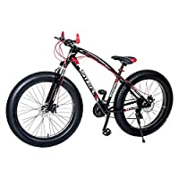 Aster Iron 21Speed Fat Bike - Black Red (26 Inch)