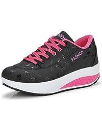 best authentic f8dc7 a60ab QZBAOSHU Mujer Adelgazar Zapatos Sneakers para Caminar Zapatillas Aptitud  Cuña Plataforma Zapatos