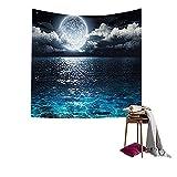 Qees - Tapiz mural con diseño de la galaxia, para decorar el dormitorio, el salón o usar como manta de playa, Image 4, 153*102 cm