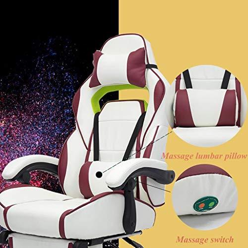 Xinhe Gaming Chairs Hochlehner PU-Leder Bürostuhl Computertisch Stuhl Executive Und Ergonomischer Drehstuhl Mit Kopfstütze Und Lordosenstütze
