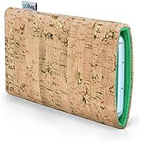 Stilbag maßgeschneiderte Korkhülle VIGO | Farbe: natur-gold-mint | Smartphone-Tasche aus Kork | Handy Schutzhülle | Handytasche Made in Germany