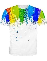 Leapparel Unisex 3d Digital Gedruckte Personalisierte Kurze Hülse T-Shirts Tees Tops