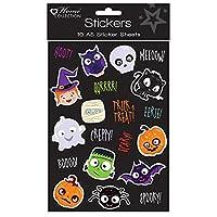Pack of 10 A5 Halloween Stickers Sheet - Halloween Party Bag Filler