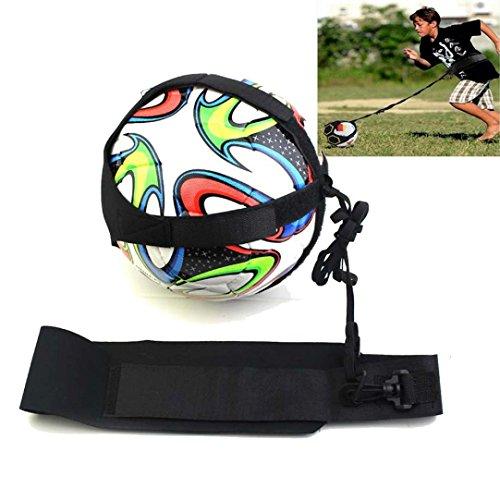 Kissen-trainer (HCFKJ Fußball Kick Trainer Fähigkeiten Solo Fußball Trainingshilfe Ausrüstung Gürtel)