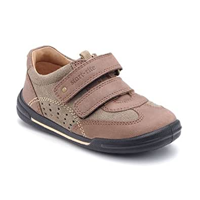 Start-rite Boys Flexy-Soft Air Brown Leather First Shoes H S 7