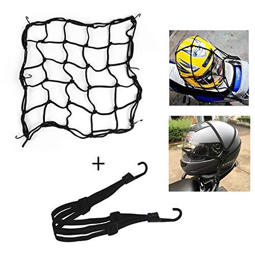HINATAA motocicli bagagli net e casco in gomma corda, a scomparsa con corda elastica moto Bike Equipment cargo co